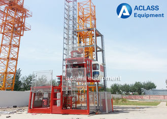 China Custom Construction Building Hoist Elevator With 2*1000kg Loading Capacity supplier