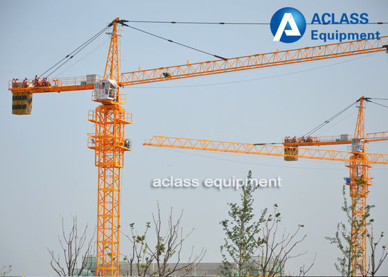 China 5 Ton Cat Head Tower Crane with Wire Rope / Hydraulic Cylinder / Limit Switch supplier