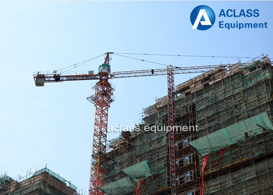 China 6 Ton 56m Topkit Fixed Tower Crane  Boom with Spare Parts Wire Rope supplier