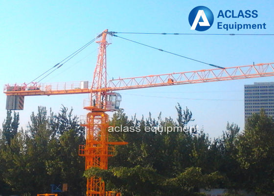China Professional 56 m Jib Length External Climbing Tower Crane For Construction Site supplier