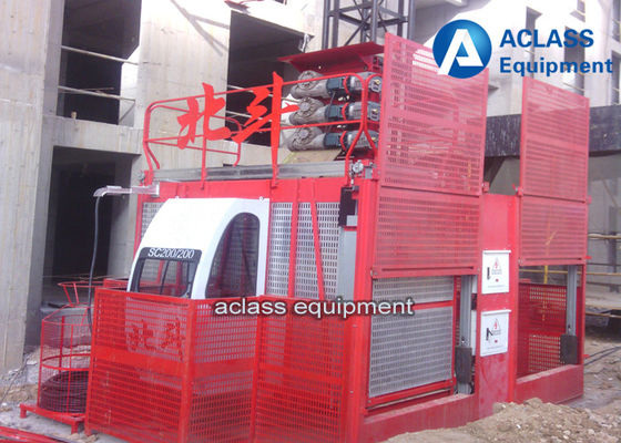 China 3t Double Cabin Construction Hoist Elevator Building Safety Equipment VFD Control supplier