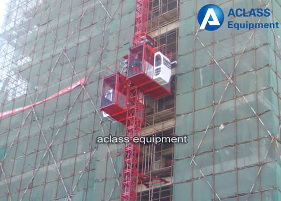 China VFD Control Building Man / Material Construction Site Elevator 0-42m/min Middle Speed 4t supplier