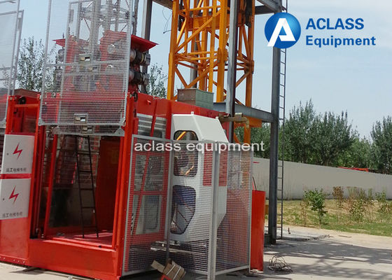 China Construction Passenger Lift Hoist Double Cages Material Elevator for Bridge supplier
