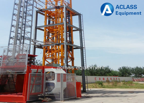China Single Cage Construction Hoist Elevator , 2 Ton Construction Material Lifting Hoist supplier