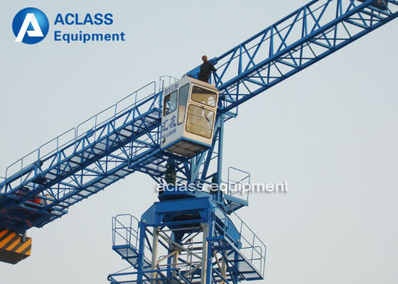 China Overhead Flat Top Tower Crane Lifting Equipment 30m Freestanding Height supplier