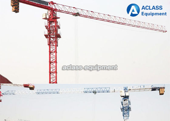 China Durable 8T Top Flat Type Topless Tower Crane With 45m Working Height supplier