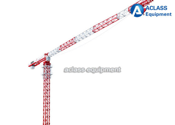 China 10 Ton Topless Tower Crane Pt6518 65m Jib With Potain 3m Mast Section supplier