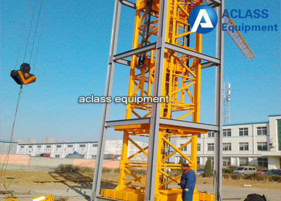 China Self - Elevating Internal Climbing Tower Crane Boom Length 50m 6 ton supplier