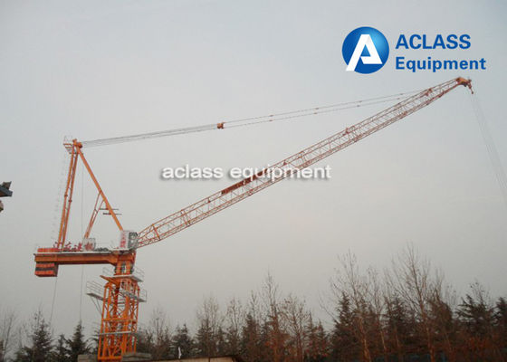 China 25 ton 50m Luffing Jib Construction Tower Crane Wire Rope Lifting Heavy Equipment supplier