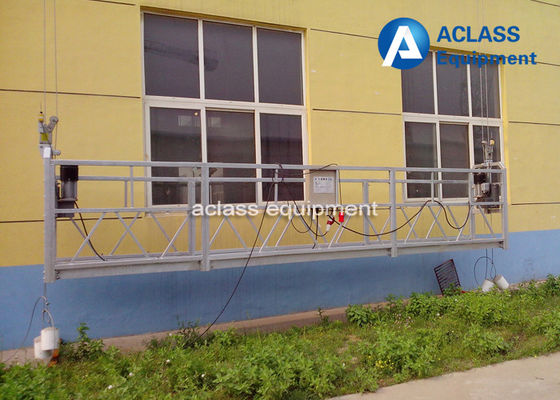 China Galvanized 0.63t Suspended Working Platform 6m Electric Building Cleaning Cradle supplier