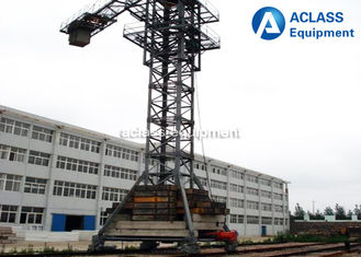 China Hydraulic Self - Climbing 60m Jib Mobile Tower Crane , Topkit Tower Crane supplier