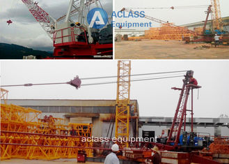 China 10 ton Construction Jib Luffing Derrick Crane , Heavy Lifting Equipment supplier