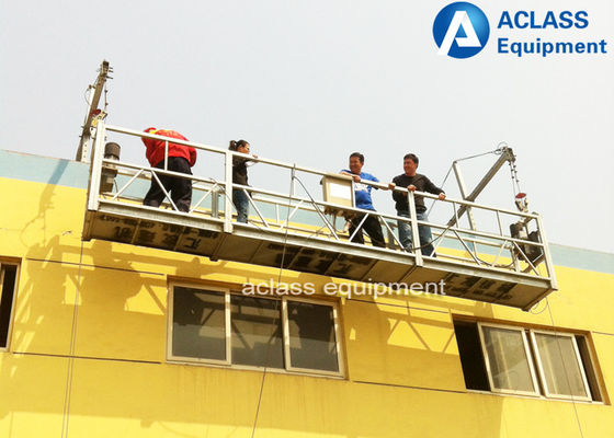 China Steel Wire Suspended Working Platform With Steel Hot Galvanized Alloy 8-10 m/min supplier