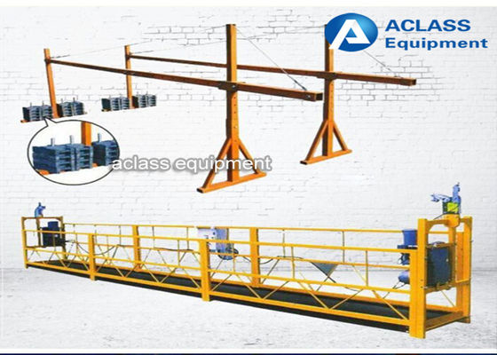 China Customized Aluminum alloy Suspended Working Platform , Suspended Rope Platform supplier