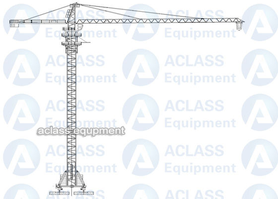 China 8 Tons 5513 55 m Boom Self Raising Mobile Tower Crane With 20 Meters Rail supplier