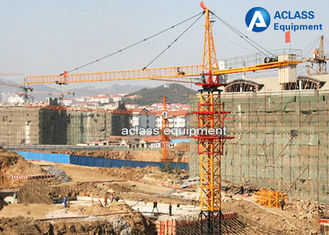 China Electric Construction Tower Crane 56m JIB QTZ80 Fixed And Out Climbing Type supplier