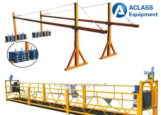 China Building Construction Tools 630kg Suspended Working Platform With Wire Rope supplier