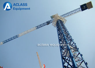 China 5 Ton Climbing Flattop Tower Crane QTP50 5010 Hydraulic Cylinder Lifting Hook supplier