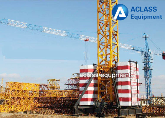 China TC5010 Mobile Tower Crane 50m Working Jib And Rail Travel Base Type supplier