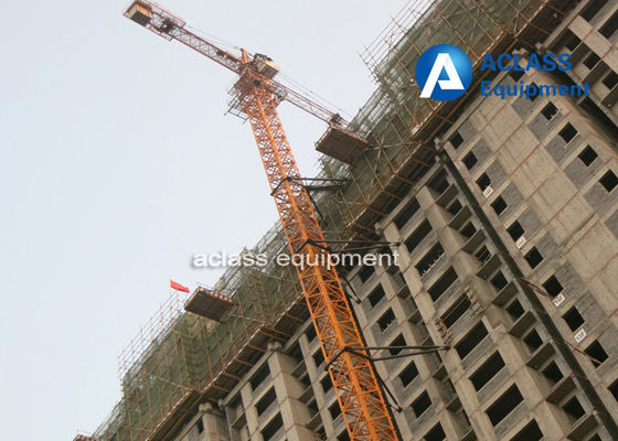 China 16 Ton Top Kit Tower Crane 70m Boom Length 50m Freestanding Height supplier