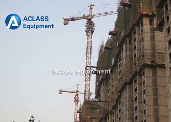 China Inverter 12 Ton Construction Tower Crane Self - erecting Hammer Head supplier