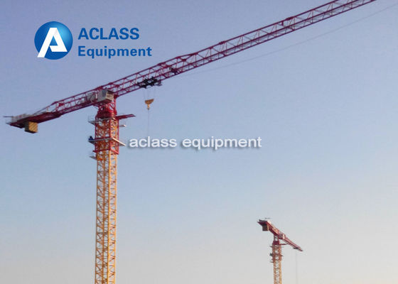 China 75m Jib Model Tower Crane 3.2t Tip Load And 18t Max Load Construction Crane supplier
