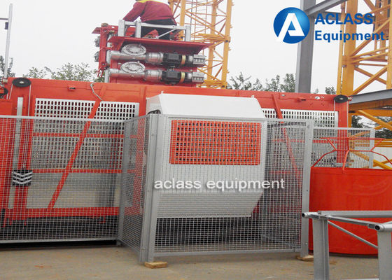 China SC50 Small Building Construction Hoist Elevator Lifts Single Cage 500kg load supplier