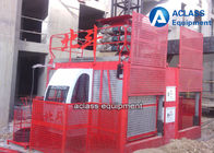 China 3t Double Cabin Construction Hoist Elevator Building Safety Equipment VFD Control factory