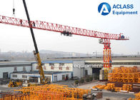 China 18 ton 74m Jib Length Topless Tower Crane , Self - Raising Flat Top Tower Crane factory