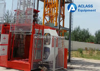 China Construction Passenger Lift Hoist Double Cages Material Elevator for Bridge factory