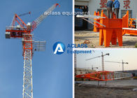 China Construction Site Luffing Jib Tower Crane with 55m Boom / Split Mast Section factory