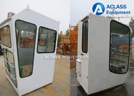 China White Tower Crane Cabin Industrial Machinery Parts With Brand / Contact Information factory