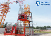 China Professional Building Construction Crane Lifting Equipment With  Double Cages factory