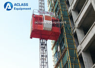 China 2 Ton Two Cages Construction Hoist Elevator , Construction Material Elevator factory