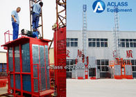 China SC50 Mini Construction Lifts a Single Elevator Cage 500kg load factory