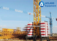 TC5010 Mobile Tower Crane 50m Working Jib And Rail Travel Base Type