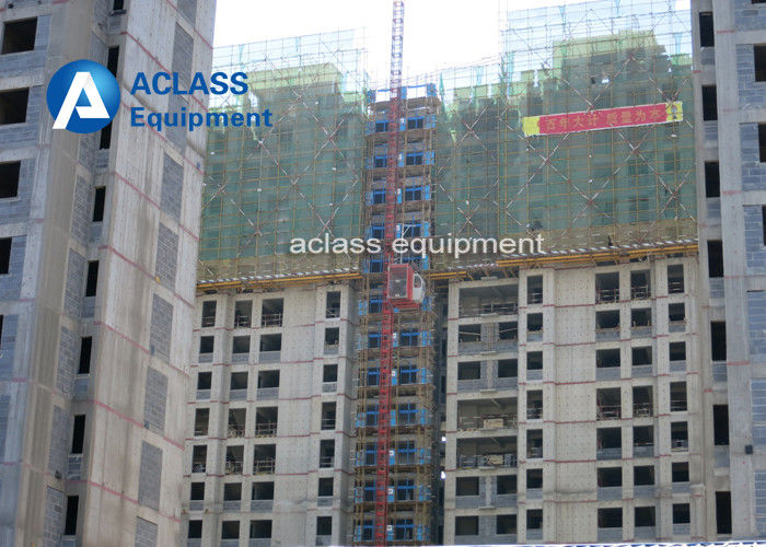 Double Cages Construction Hoist Elevator Lift Equipment With