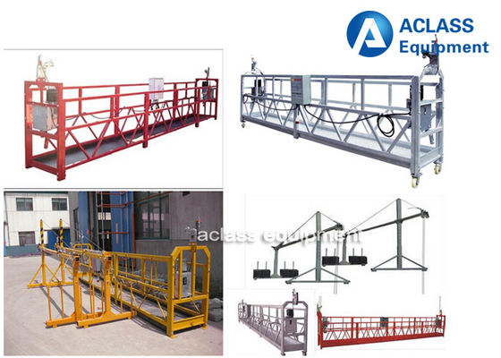 China Suspended Mast Climbing Work Platform 630kg Window Cleaning Gondola distributor