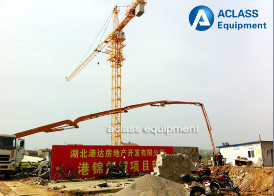 China Remote Control Topkit Hammerhead Tower Crane ,  4 Ton 47m Luffing Boom Tower Crane factory