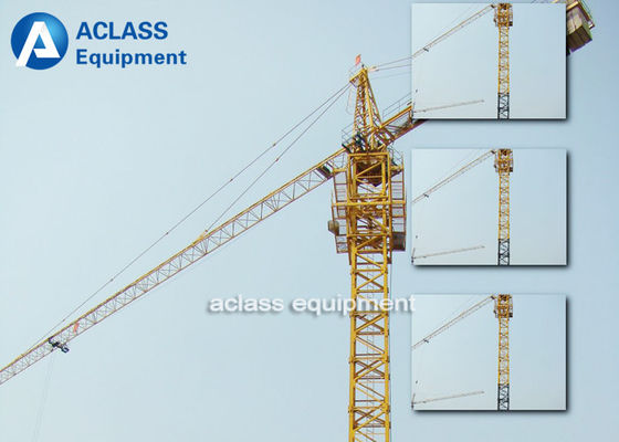 China 24.9kw Power Capacity Hammerhead Tower Crane With Double Slewing Motor distributor