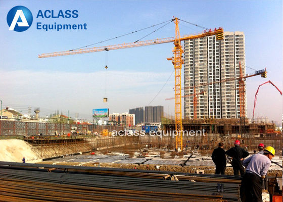 China Air Condition 6t 50m Jib Tower Crane Lifting Equipment for Building Construction distributor