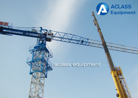 China 6 Tons Lifting Heavy Equipment Flat Top Tower Crane PT5510 With Top Slewing factory
