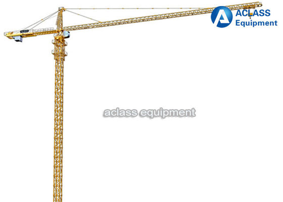 China Construction Fixed Tower Crane 65m Boom With 3m Split Mast Section 10 T distributor