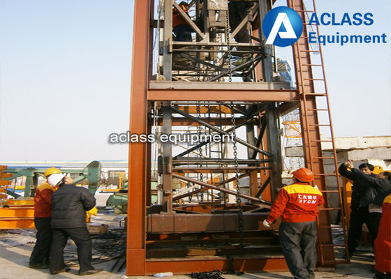 China 35m Jib 2.5 ton Internal Climbing Tower Crane , Hydraulic Mobile Crane QTZ 25 factory
