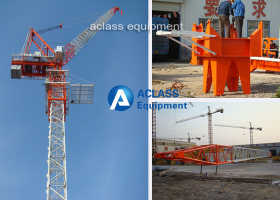 China Construction Site Luffing Jib Tower Crane with 55m Boom / Split Mast Section distributor