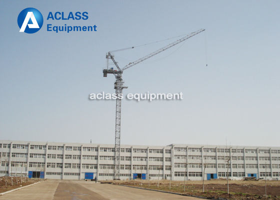 China VFD / Remote Control Luffing Jib Tower Crane 16 ton , Construction Lifting Equipment distributor