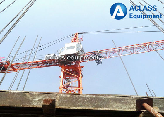 China Small Internal Climbing Tower Crane Inner Building 80 m With Horizontal Jib factory
