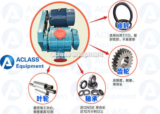 China 250 Biogas Compressor Booster Roots Rotary Lobe Blower ISO Lobe Type Blower distributor