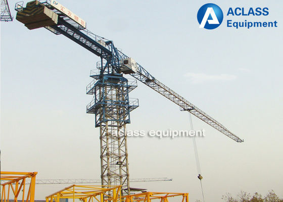 China Mini Topless Tower Crane Flat Top Tower Crane PT5010 Anemometer factory