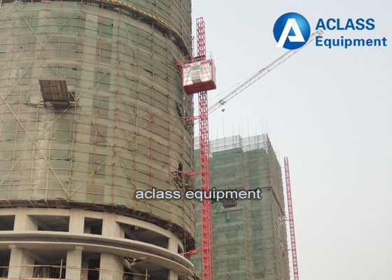 China Small Construction Hoist Elevator SC100 Single Cage or Cabin distributor